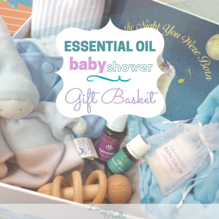 Essential Oil Baby Shower Gift Basket