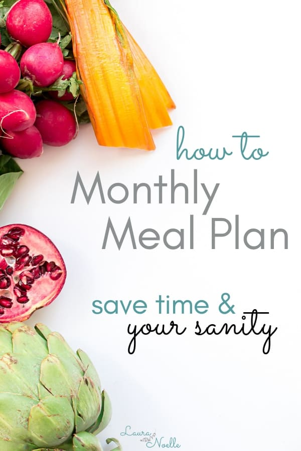 How to monthly meal plan and save your time and sanity!