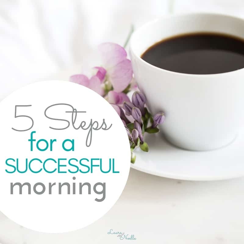 Learn 5 simple steps you can take each night to have a super successful morning the next day! || motherhood | lifehacks | home organization