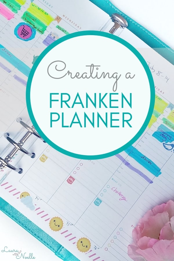 In desperation to find a planner that worked with my brain, I tried creating a FrankenPlanner, trying to take the best of many planners and make it work.