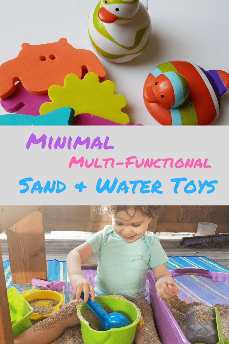 Minimal Sand and Water Toys for Infants and Toddlers