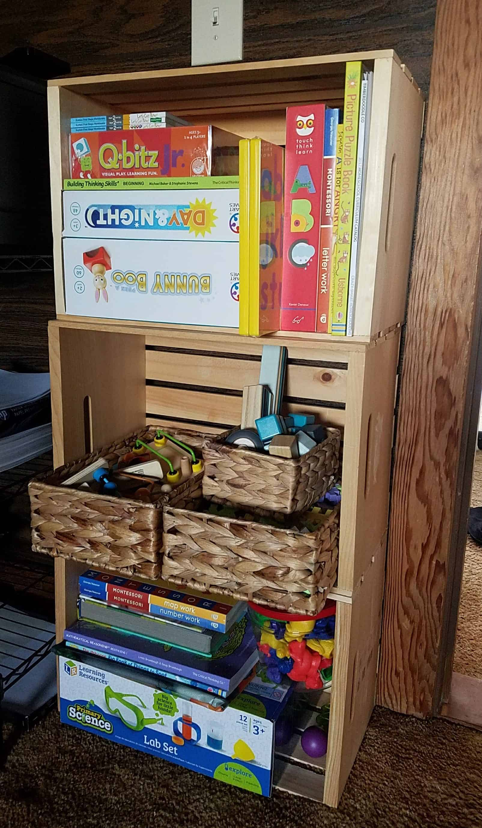 Timberdoodle offers complete and custom curriculum kits. This is our preschool custom set up!