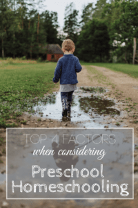 Thinking about Homeschooling your Preschooler? These 4 Factors can help you decide what's best for them!