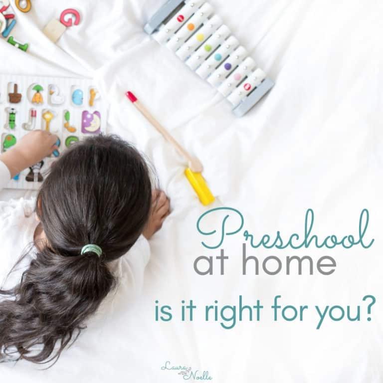 Top 4 Factors When Considering Preschool Homeschooling
