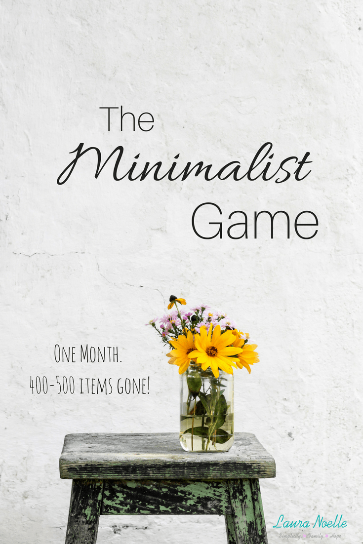 Minimalist Game: Week One