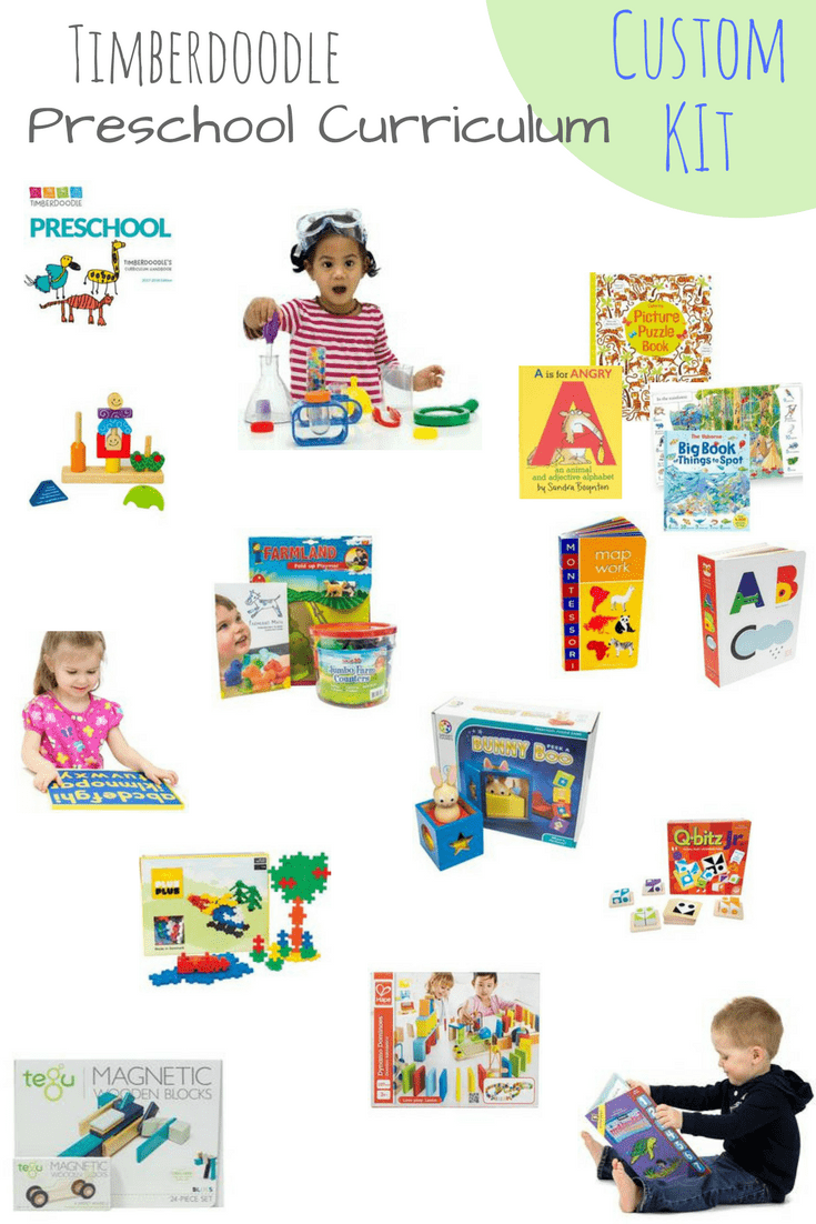 I'm so excited about our Timberdoodle Preschool Custom Curriculum Kit! It's packed with hands-on materials, books, experiments and STEM activities to start kids off with sharp critical thinking and logic skills!