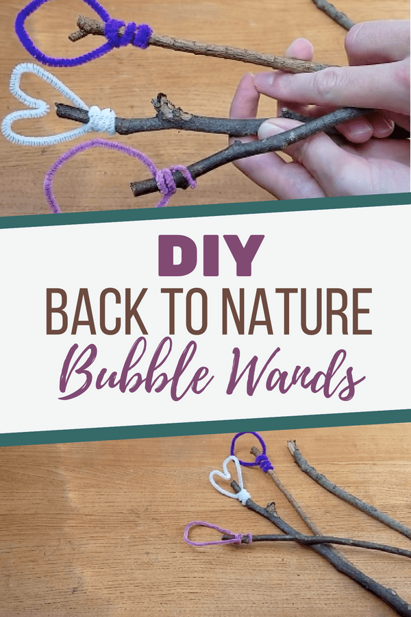 Bubbles have become motorized and plastic toys, so here's a simple way to DIY Back to Nature Bubble Wands that inspire all-natural wonder!