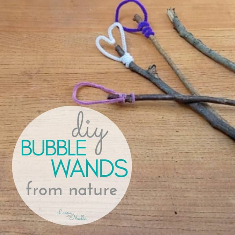 DIY Bubble Wands from Nature