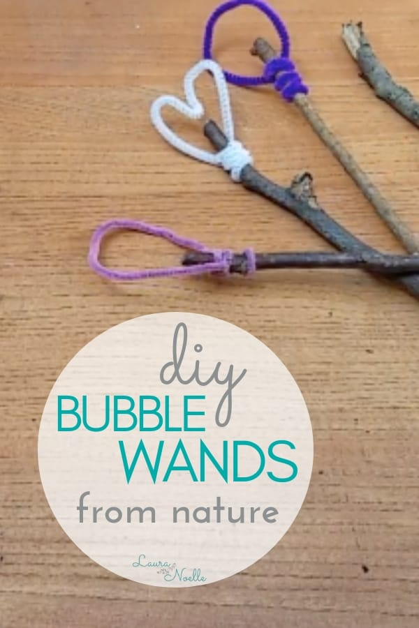 Bubbles have become motorized and plastic toys, so here's a simple way to DIY Bubble Wands from Nature that inspire all-natural wonder!