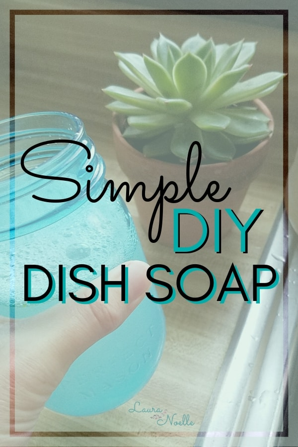 How to make super simple DIY dish soap scented with essential oils || aromatherapy | DIY | natural products