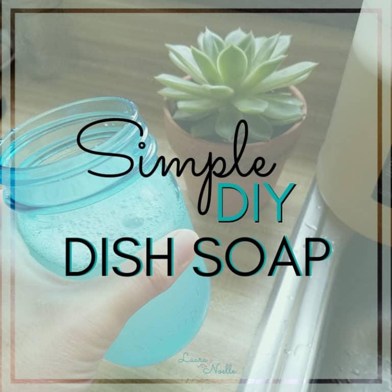 Tangy Tangerine DIY Dish Soap
