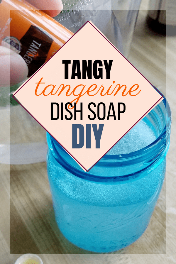 Going toxin free meant giving up all my yummy smelling products, so making this tangy tangerine DIY dish soap is a perfectly delicious replacement!