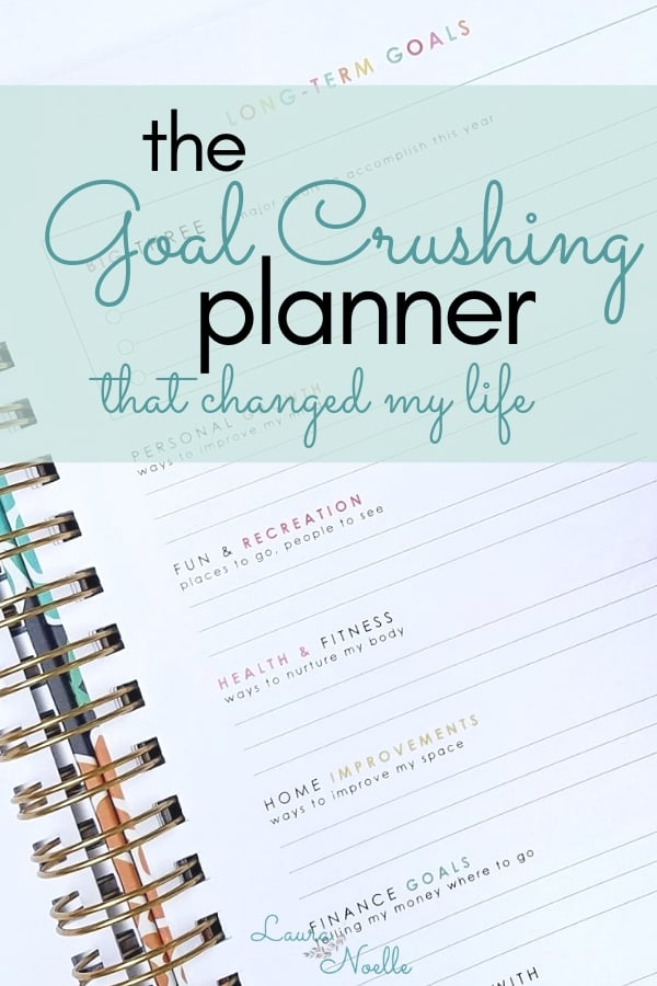 Planners can be such a powerful tool, but only if they help you plan and crush your goals! The chaos was real until I found the goal crushing tools set out for me in this planner! #livingwellplanner #goalcrushing #productivity