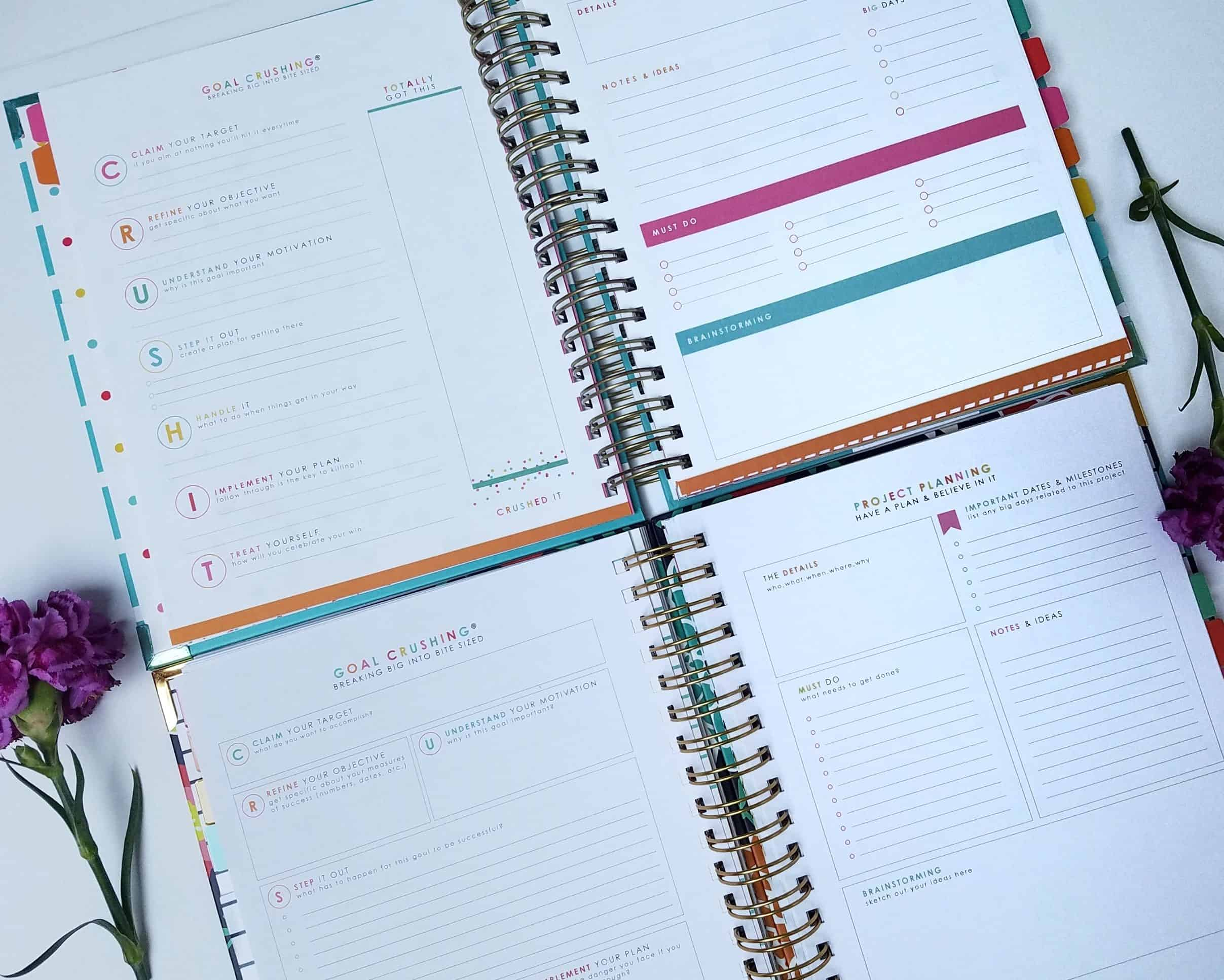 Ready to crush your goals and get your life in order? Look inside the new Living Well Planner that's helped me do just that time and time again!