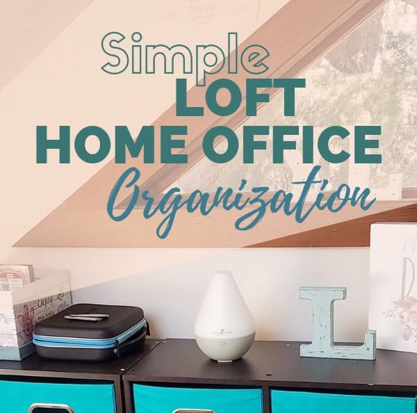 A simple home office can be inspiring and effective--here are some simple home office organization ideas!