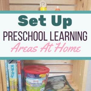 How to set up homeschool preschool learning areas in your home. || homeschooling | preschool at home | early childhood activities | #homeschooling #preschool #organization