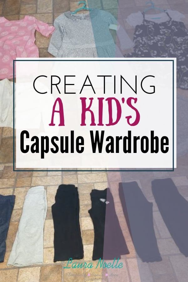 Learn how to create a simple, sanity saving kid's capsule wardrobe for any season! | mom hacks | minimalism | capsule wardrobe | #parentingtips #kidsclothes #minimalistkids