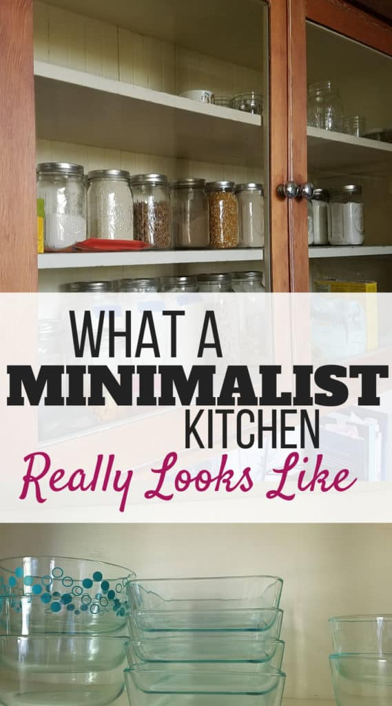 Find out what a simple living minimalist kitchen really looks like! | minimalism | mom life | kitchen organization | #decluttering #minimalistliving #simpleliving