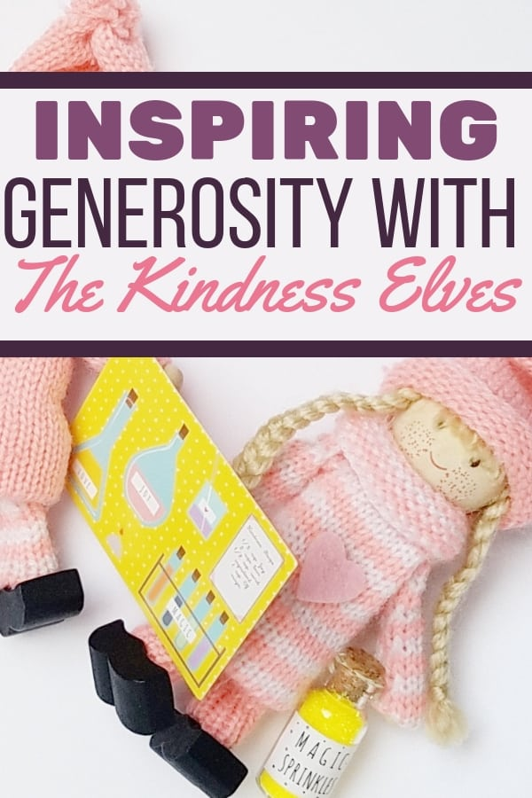 Learn how to inspire generosity in kids with The Kindness Elves as a great way to stay others-focused while spreading holiday cheer! || mindfulness | growth mindset | kids activities