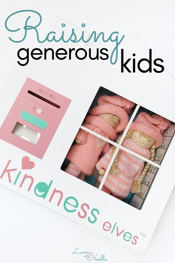 Tips for raising generous kids using tools like The Kindness Elves to help them make a difference in the world. || growth mindset | mindfulness | kids activities | generosity