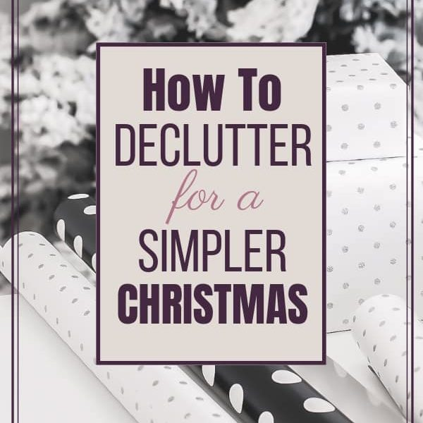 How to Declutter for a Simpler Christmas with One-In-One-Out