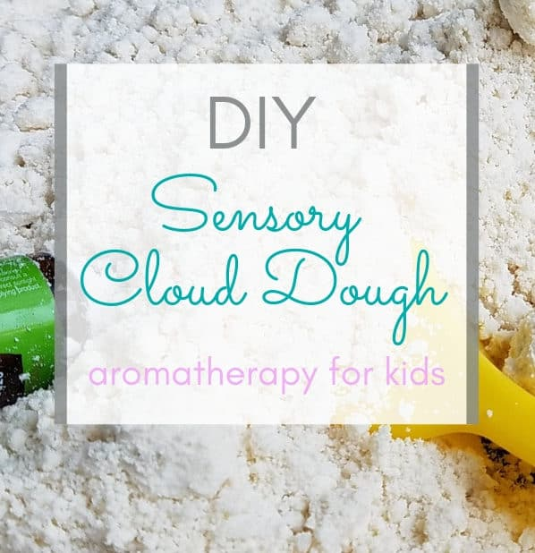 Learn how to make simple DIY Sensory Cloud Dough with essential oils. || sensory for kids | DIY | aromatherapy for kids | #sensoryactivities #diy