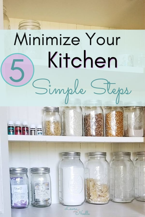 minimize your kitchen in 5 simple steps