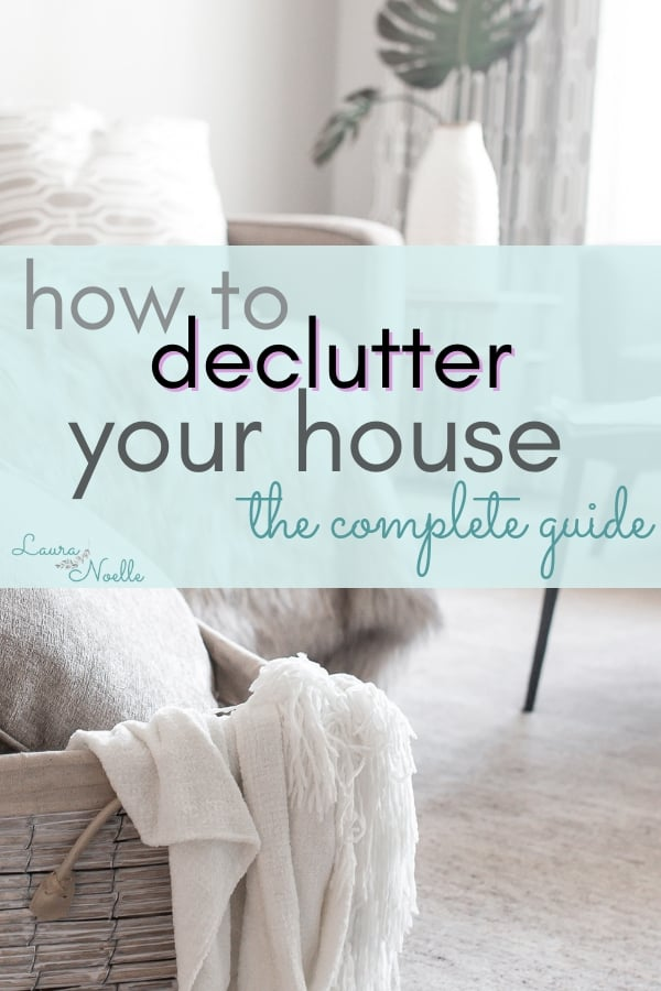 Learn the 6 simple steps for how to declutter your house when you don't know where to start! || decluttering | home organization | minimalism | #declutter #organizationtips #minimalist