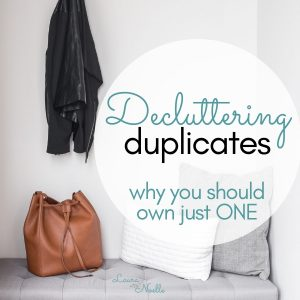 decluttering duplicates in your home