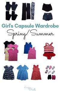 girls spring/summer capsule wardrobe