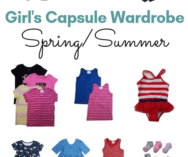 girls spring/summer capsule wardrobe
