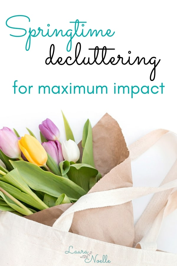 springtime decluttering for maximum impact