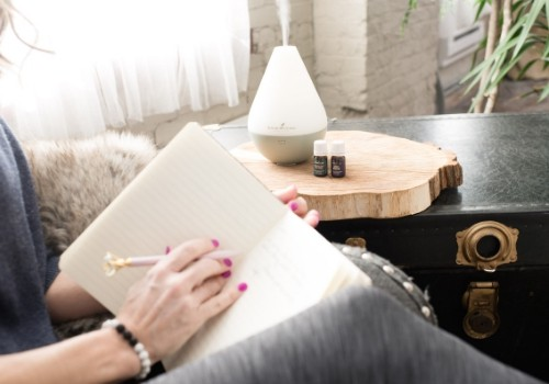 journaling while diffusing essential oils