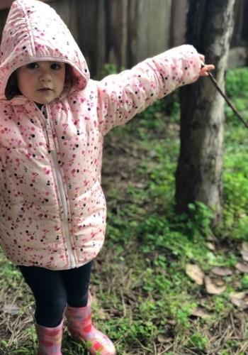 preschooler exploring nature
