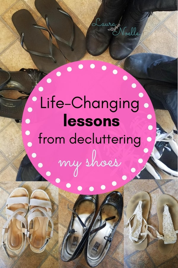 life-changing lessons from decluttering my shoes