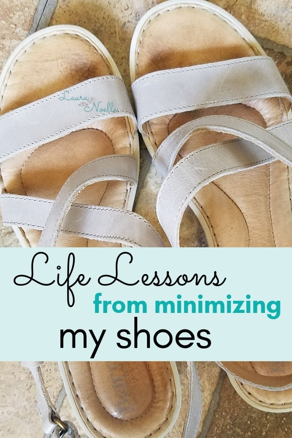 life lessons from minimizing my shoes