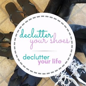 declutter your shoes