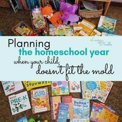 planning the homeschool year when your child doesn't fit the mold