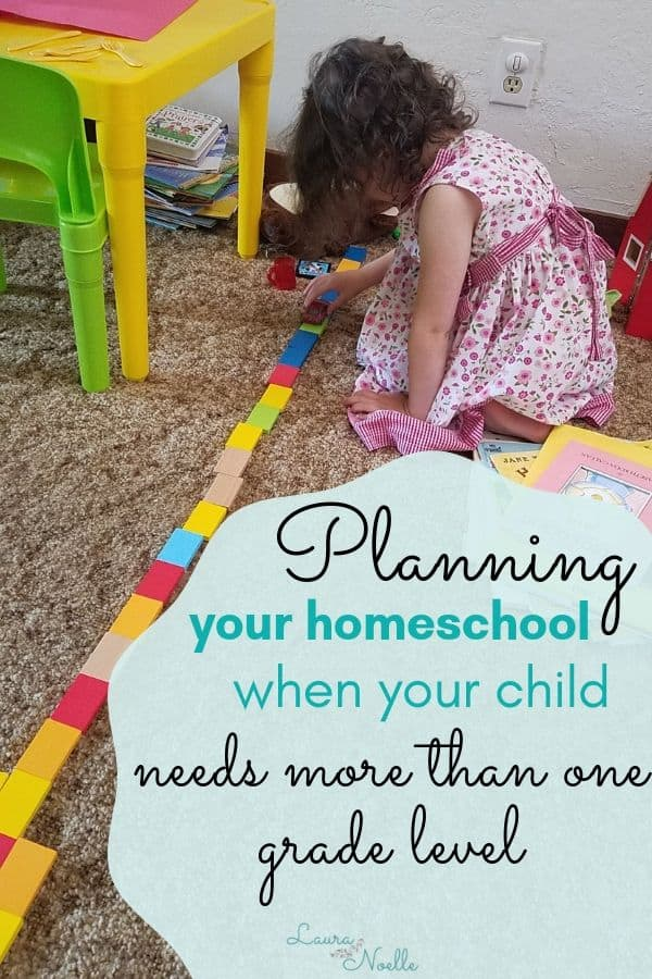 planning your homeschool when your child needs more than one grade level