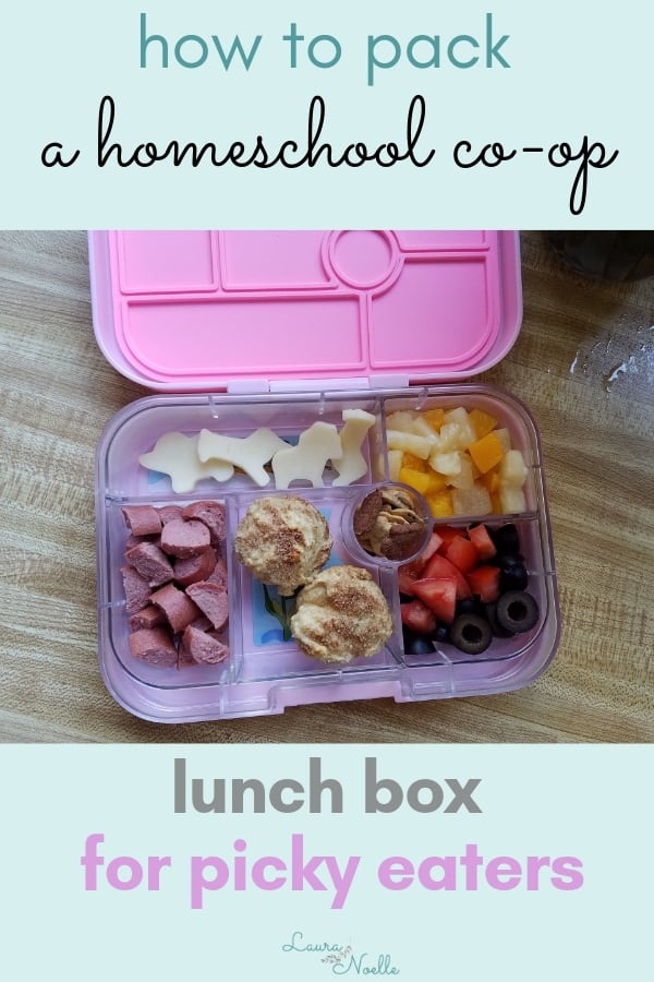 how to pack a homeschool co-op lunch box