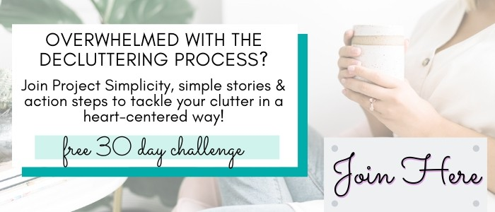 join the 30 day decluttering challenge