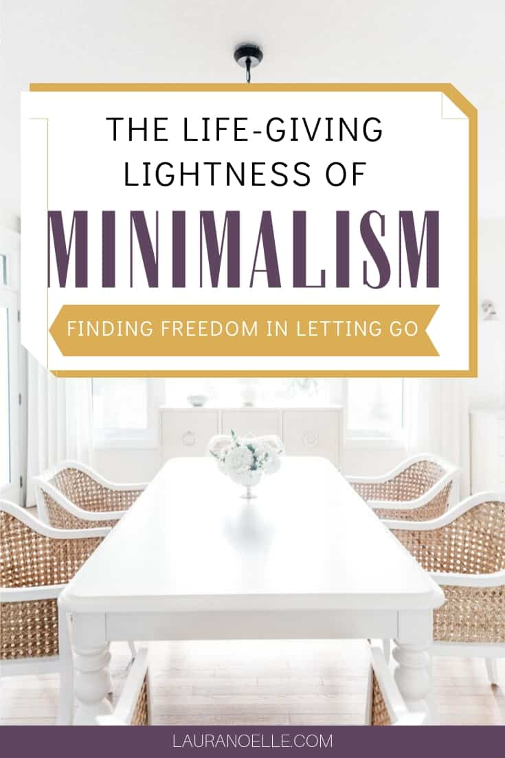 The life-giving lightness of minimalism