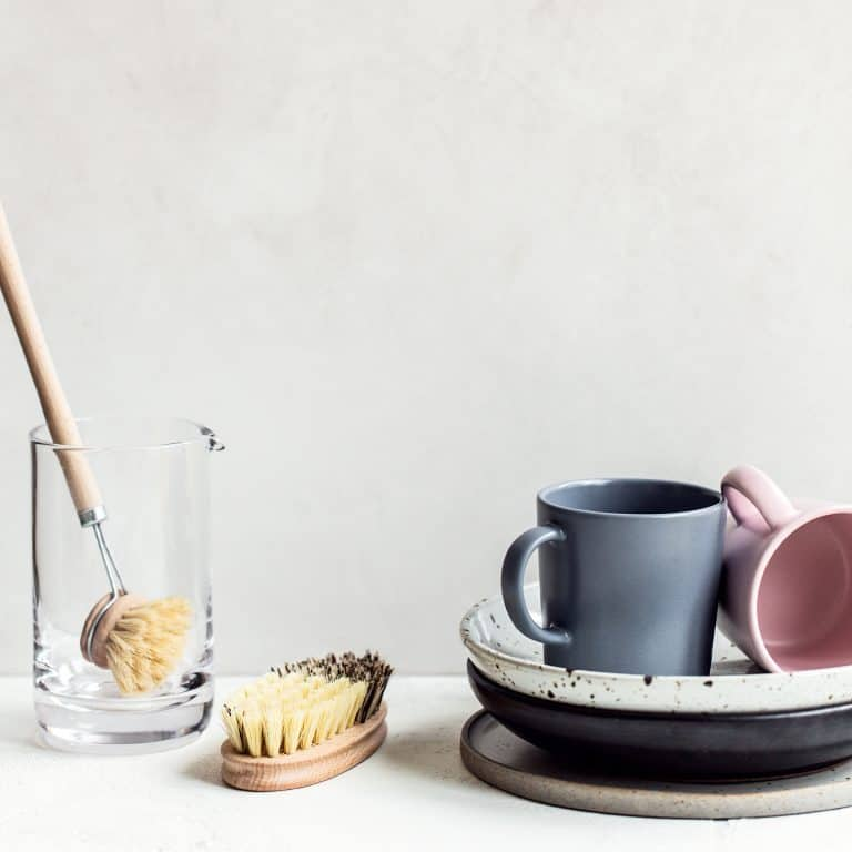 simple dishes in a pile