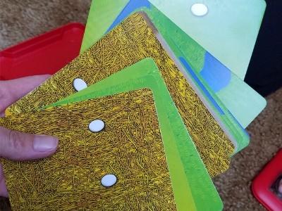 chicken shuffle cards
