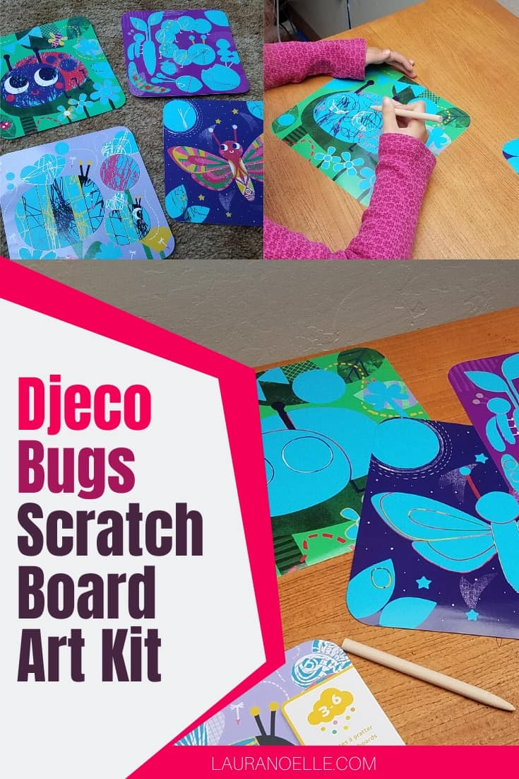 djeco bugs scratch board art