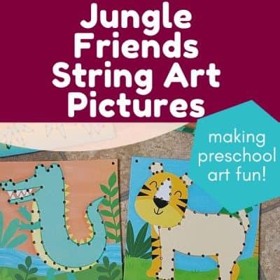 jungle friends string art
