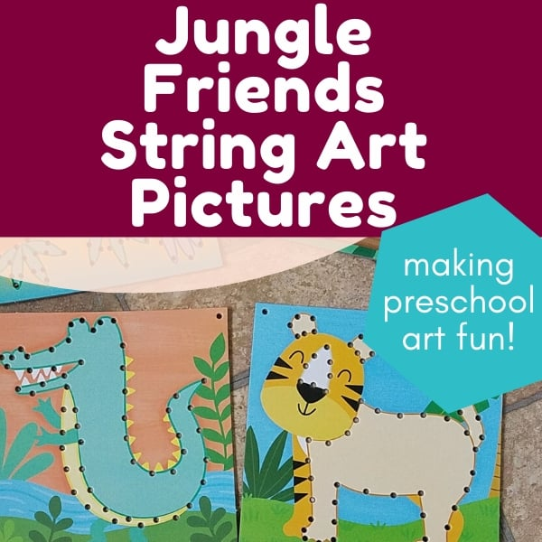 Let's Craft String Art Pictures || Fun with Jungle Friends Review