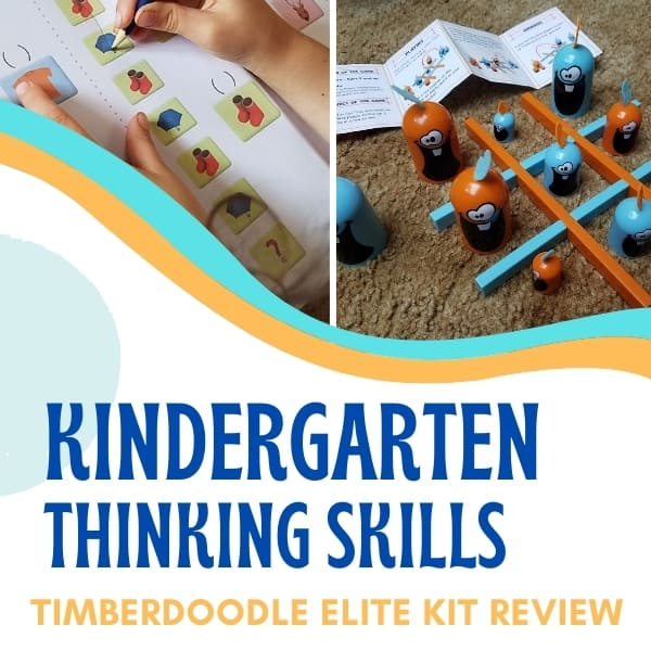 Thinking Skills for Kindergarten || Timberdoodle Elite Kit Review
