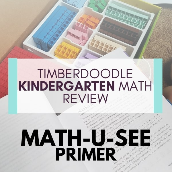 Math for Kindergarten || Timberdoodle Elite Kit Review