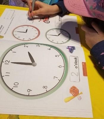 easy telling time workbook